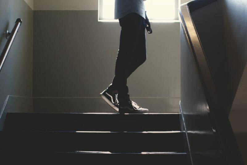 学校階段踊り場